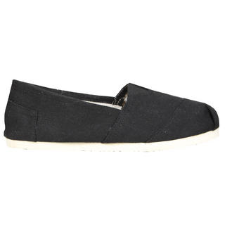 View Item Black Canvas Flat Shoe
